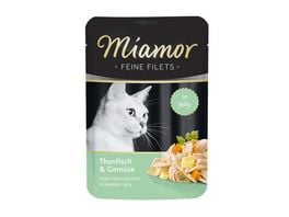 Miamor Katzennassfutter Feine Filets in Jelly Thunfisch Gemuese