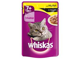 Whiskas Katzennassfutter 7 mit Huhn in Sauce Portionsbeutel