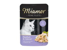 Miamor Katzennassfutter Feine Filets in Jelly Thunfisch Calamari