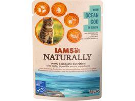 IAMS Naturally Katzennassfutter mit Kabeljau
