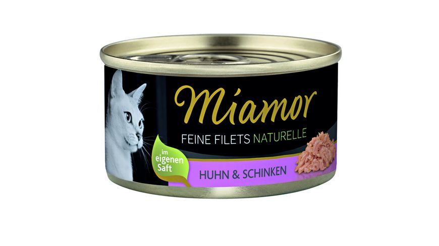 Miamor Katzennassfutter Feine Filets naturelle Huhn Schinken