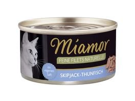 Miamor Katzennassfutter Feine Filets naturelle Skipjack Thunfischfisch