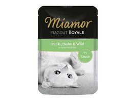 Miamor Katzennassfutter Ragout Royale in Sauce Truthahn Wild