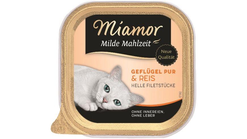 Miamor Katzennassfutter Milde Mahlzeit Gefluegel Pur Reis
