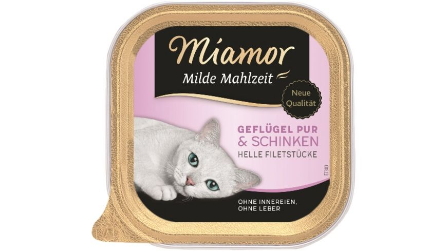 Miamor Katzennassfutter Milde Mahlzeit Gefluegel Pur Schinken