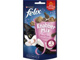 felix Katzensnacks KnabberMix Picnic Party mit Huhn Kaese und Truthahngeschmack