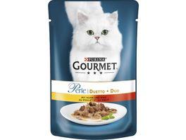 Purina GOURMET Katzennassfutter Perle Duetto mit Huhn Rind