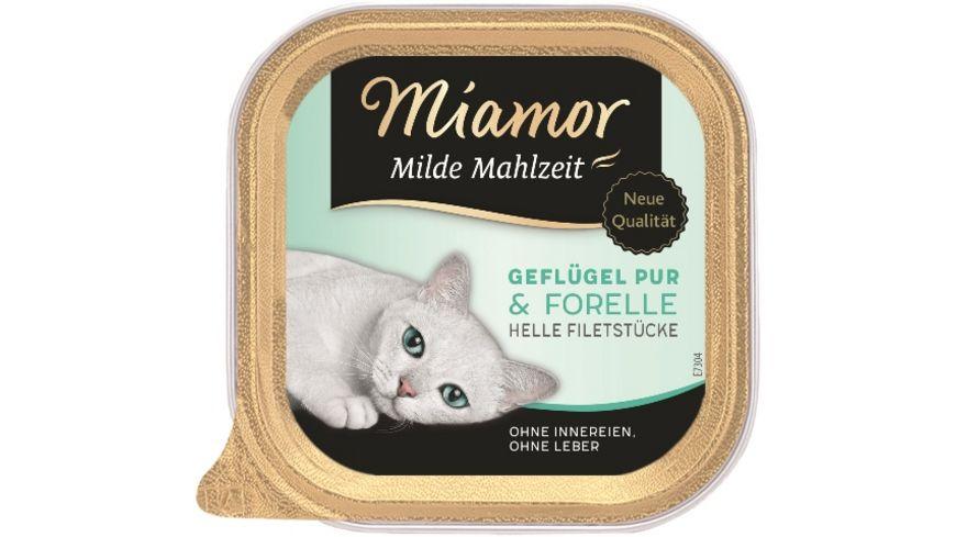 Miamor Katzennassfutter Milde Mahlzeit Gefluegel Pur Forelle