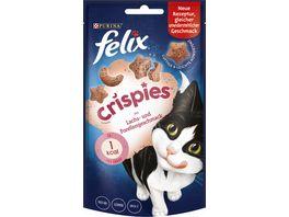 felix Katzensnacks Crispies mit Lachs Forellengeschmack