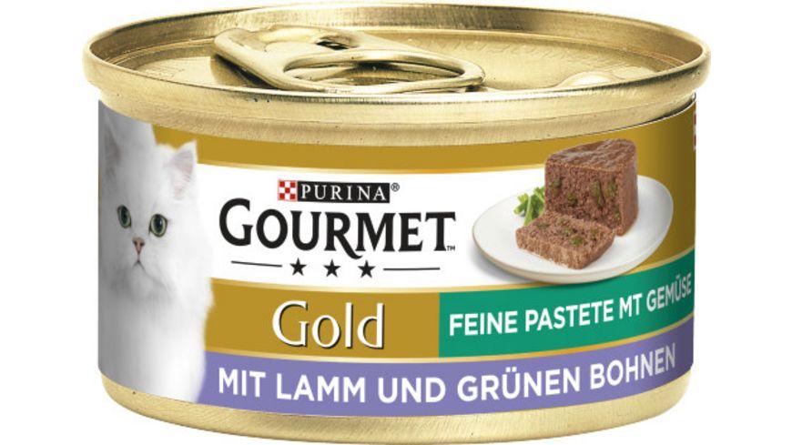 Purina GOURMET Katzennassfutter Gold Feine Pastete mit Lamm Gruenen Bohnen