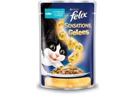 felix Katzennassfutter Sensations Gelees mit Forelle Spinat
