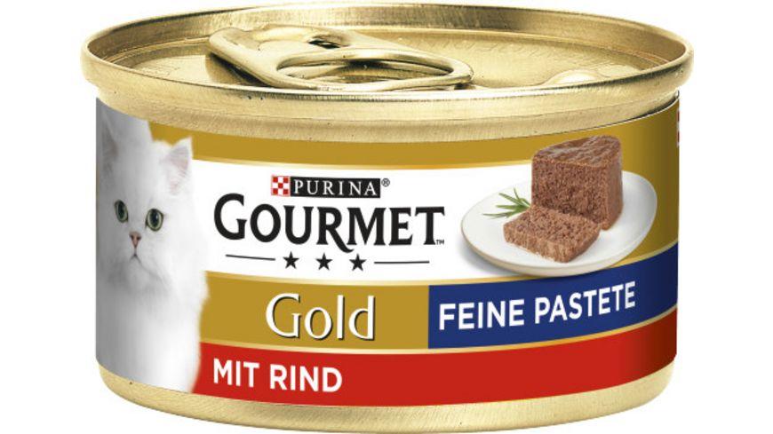 Purina GOURMET Katzennassfutter Gold Feine Pastete mit Rind