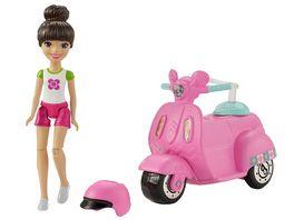 Mattel Barbie On the Go Puppe Motorroller