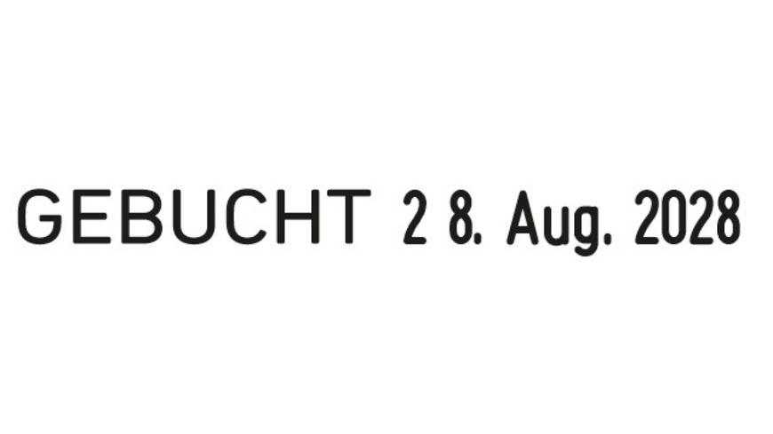 WEDO Wortband Stempel mit Datum