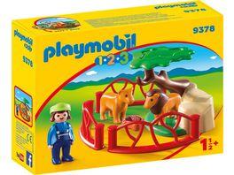 PLAYMOBIL 9378 1 2 3 Loewengehege