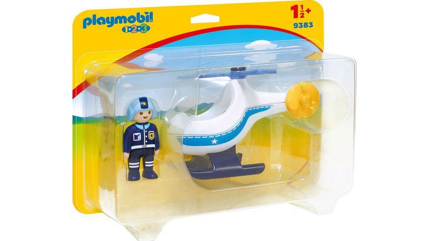 PLAYMOBIL 9383 1 2 3 Polizeihubschrauber
