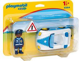 PLAYMOBIL 9384 1 2 3 Polizeiauto