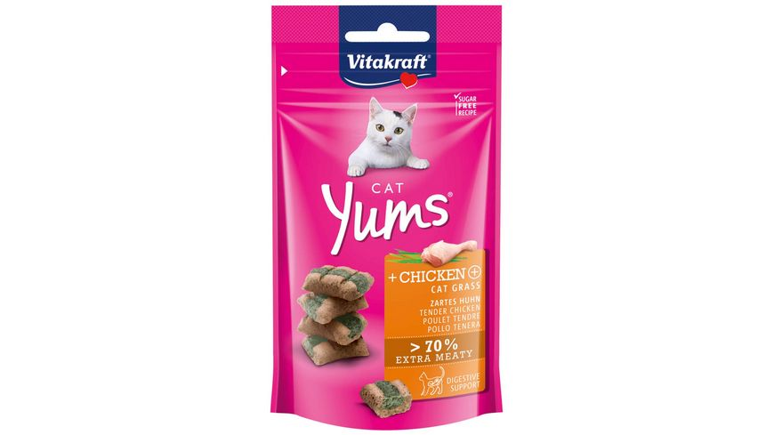 Vitakraft Katzensnack Cat Yums Huhn Katzengras