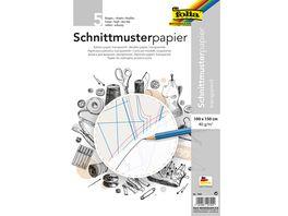 folia Schnittmuster Papier 100 x 150cm 5 Bogen weiss