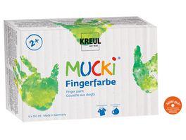 MUCKI Fingerfarbe 6er Set