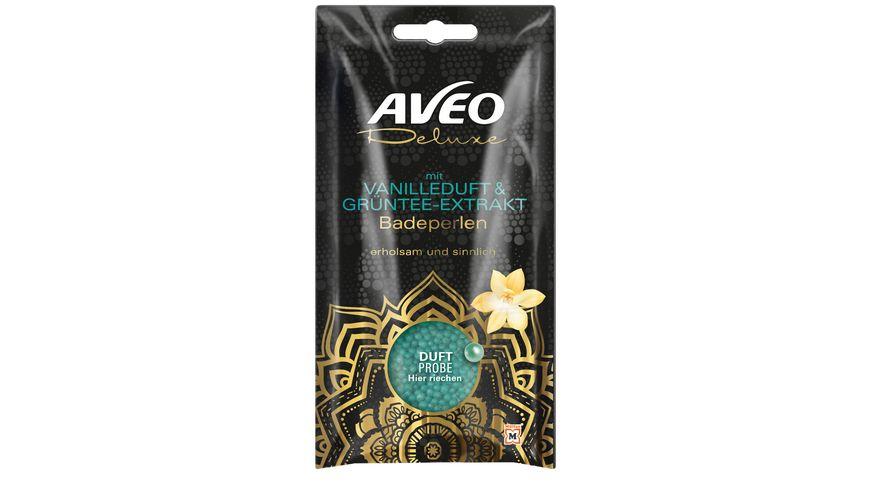 AVEO Deluxe Badeperlen mit Vanilleduft Gruentee Extrakt Badeperlen