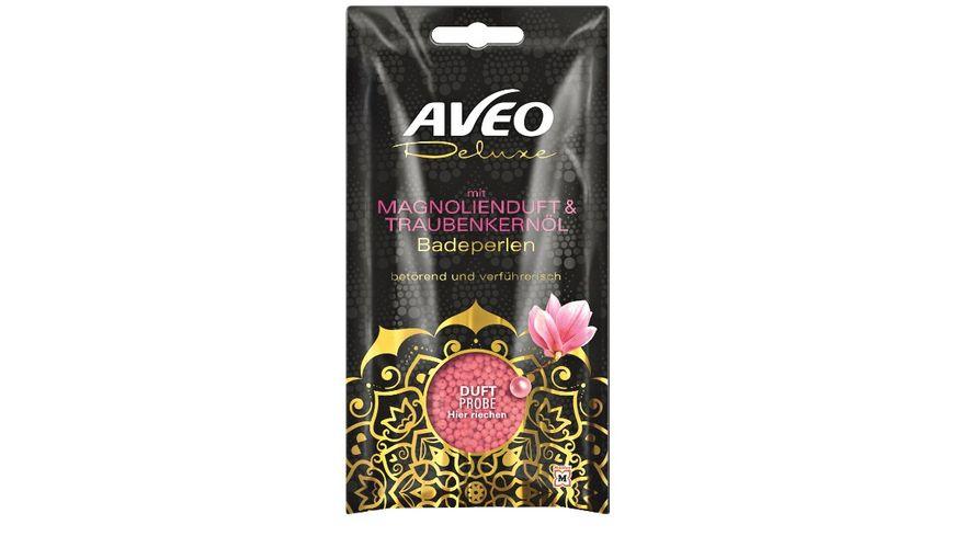AVEO Deluxe Badeperlen mit Magnolienduft Traubenkernoel