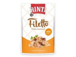 RINTI Hundenassfutter Filetto Huhn Herz in Jelly