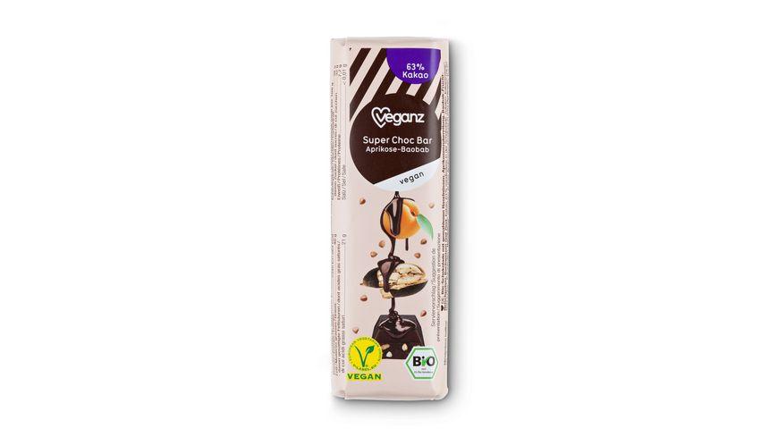 BIO Veganz Super Choc Bar Aprikose Baobab