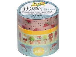 folia Washi Tape 4er Set Tropical