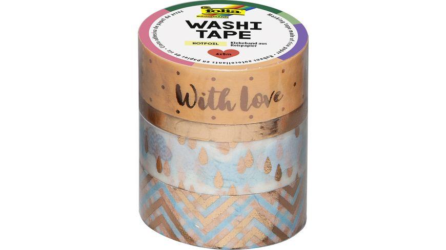 folia Washi Tape 4er Set Hotfoil rosegold