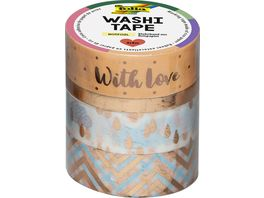 folia Washi Tape 4er Set Hotfoil rosegold