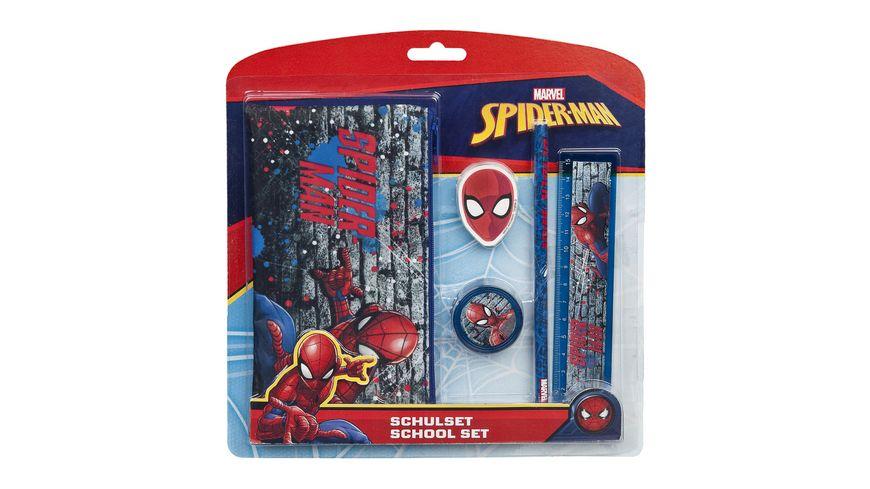 Undercover Spider Man Schulset 5 tlg