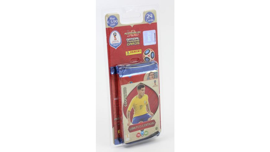 Panini FIFA World Cup Russia 2018 BLISTER Pack 4 Booster 1 limited Edition Card 1 von 10 1 Special Card