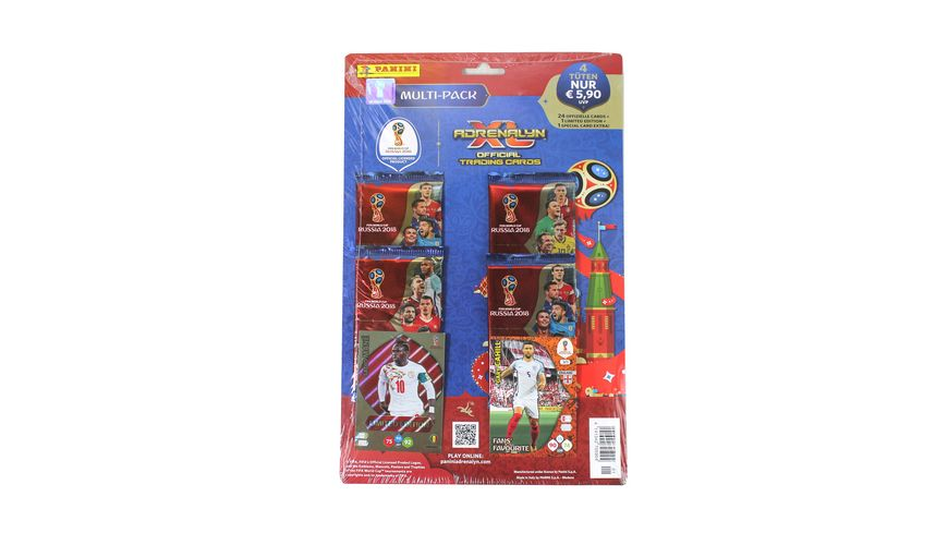 Panini FIFA World Cup Russia 2018 MULTI Pack 4 Booster 1 limited Edition Card 1 von 10 1 Special Card