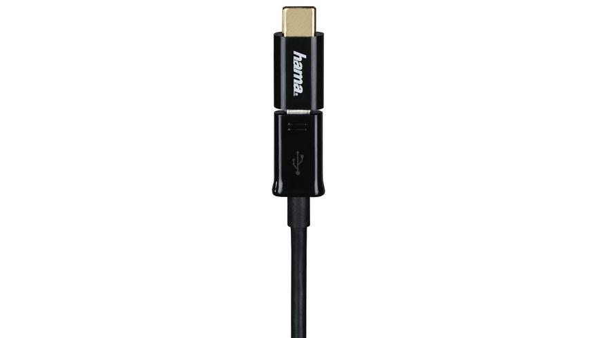 Adapter Micro USB auf USB Type C Stecker SchwarzAdapter Micro USB auf USB Type C Stecker Schwarz