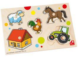 Selecta Steckpuzzle BAUERNHOF 5 teilig