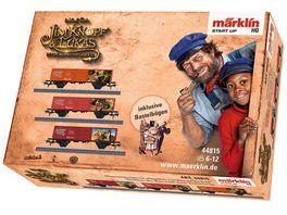 Maerklin 44815 Start up Offenes Gueterwagen Set Koenig Alfons Frau Waas und Herr Aermel