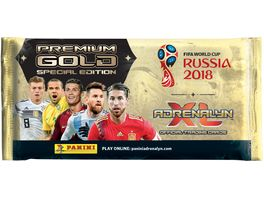 Panini FIFA World Cup Russia 2018 SONDERTUeTE PREMIUM GOLD 1 Premium Gold Booster mit 10 Karten 3 limited Edition Cards Dani Alves Sergio Ramos Toni Kroos Premium Gold Online Card