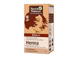 Terra Naturi Henna Pflanzenhaarfarbe Braun