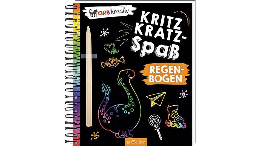 Buch Ars edition Kritzkratz Spass Regenbogen