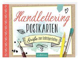 Handlettering Postkarten Gruesse zum Selbstgestalten