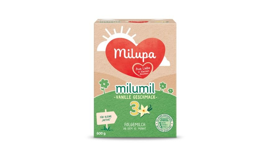 Milupa Milumil 3 Folgemilch Vanille Geschmack ab dem 10 Monat