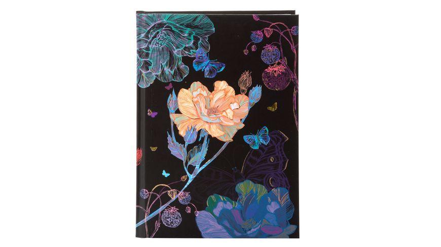 goldbuch Notizbuch A5 200 Seiten blanko Mystery Flower