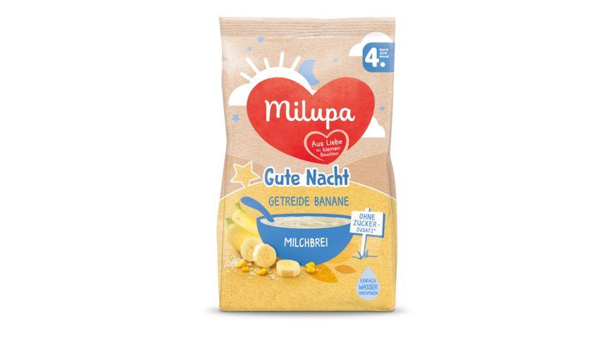 Milupa Gute Nacht Milchbrei Getreide Banane nach dem 4 Monat