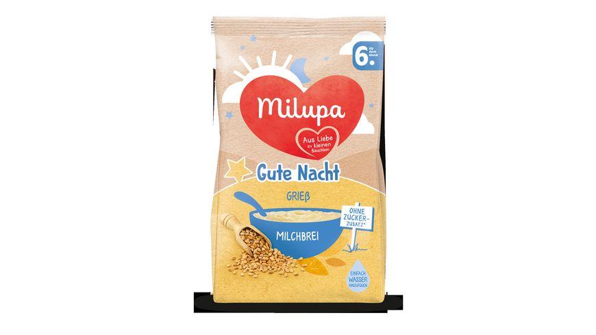 Milupa Gute Nacht Milchbrei Griess ab dem 6 Monat
