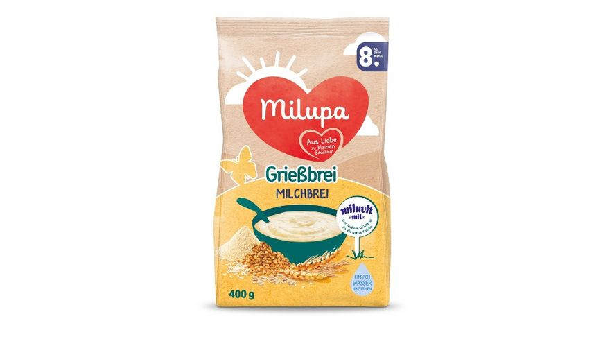 Milupa Milchbrei Griessbrei miluvit mit ab dem 8 Monat