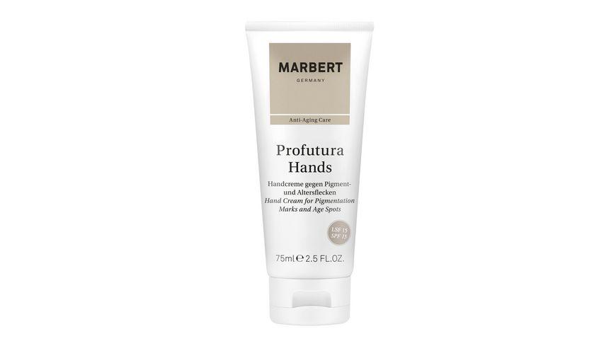 MARBERT Profutura Hands Handcreme gegen Pigment und Altersflecken