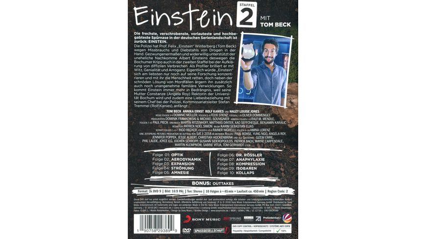 Einstein Staffel 2 3 DVDs