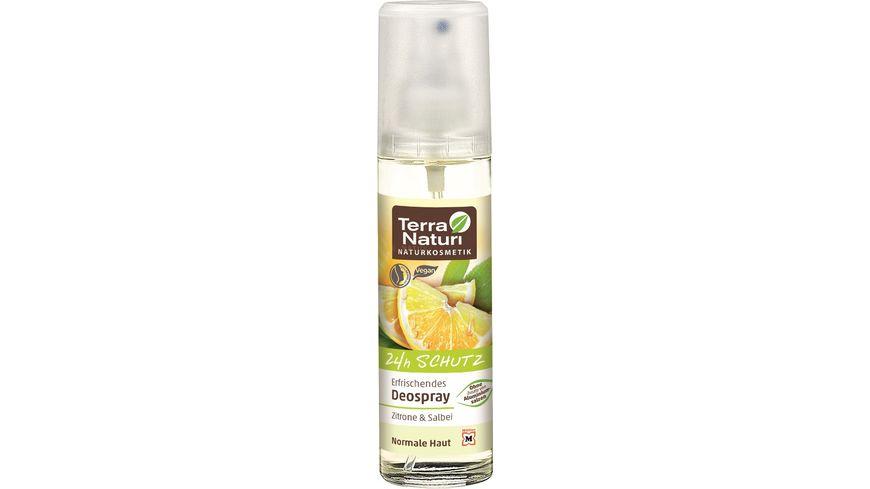 Terra Naturi Erfrischendes Deospray Zitrone und Salbei mit 24h Schutz