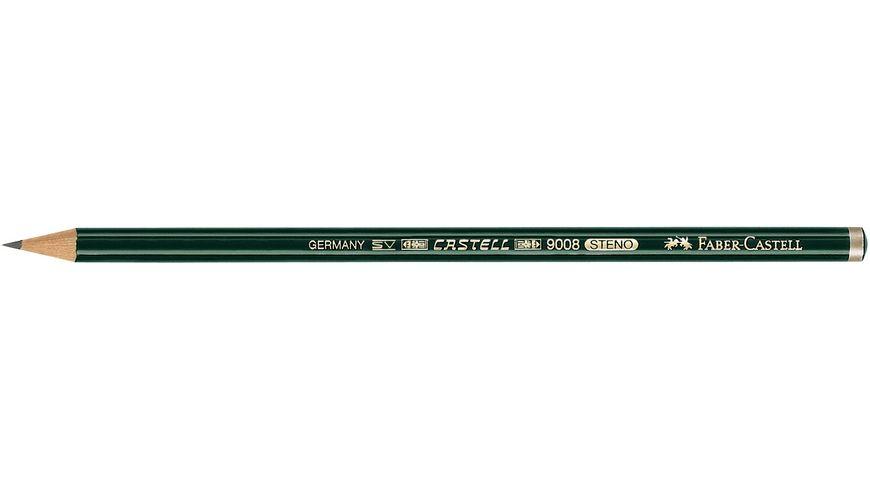 FABER CASTELL Bleistift CASTELL 9008 Stenostift B